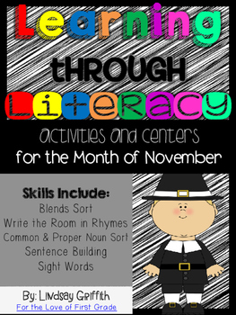 Learning Through Literacy: November