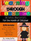 Learning Through Literacy: October