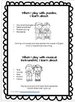 Learning Through Play Handout