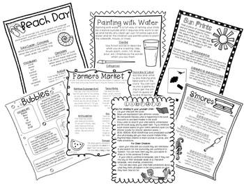 Learning Through Play Summer Handouts - English/Spanish