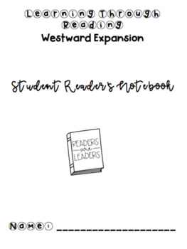 5th Grade Learning Through Reading (Westward Expansion) Student Notebook Pages