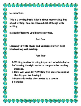 Learning Through Writing Activities