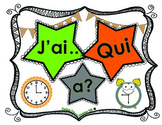 Learning Time: Hour & Half-hour in French: J'ai...qui a...