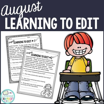 Learning To Edit August: Editing Skills, Capitalization, Punctuation, Spelling