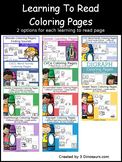 Learning To Read Coloring Pages Bundle