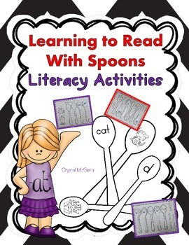 I Can Read With Plastic Spoons! CVC Words, Beginning Sounds, & Alphabet Centers