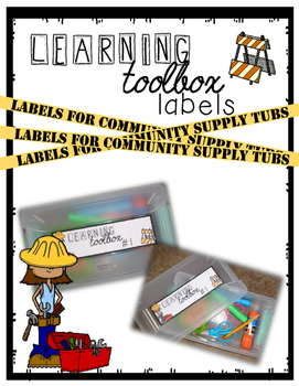Learning Toolbox Supply Tub Label