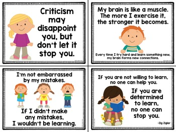 Learning Truths Posters for a Growth Mindset