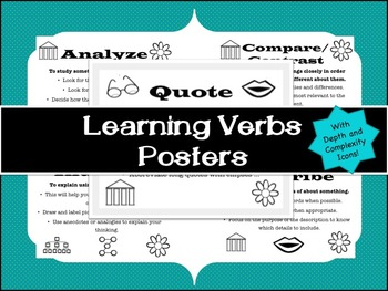 Learning Verbs Vocabulary Poster Pack
