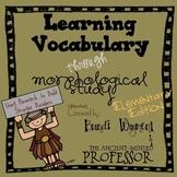 Learning Vocabulary through Morphological Study - Elementa