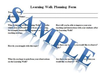 Learning Walk Forms