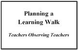 Learning Walk Professional Development Forms