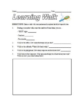 Learning Walk Observation Form