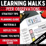 Learning Walks: Effective Peer Observations - Professional Development EDITABLE