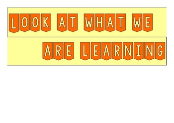 Learning Wall Banner FREE PRINTABLE