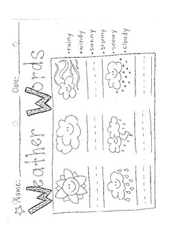 Learning Weather Words