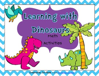learning with dinosaurs math unit by jen ross teacher by the beach. Black Bedroom Furniture Sets. Home Design Ideas