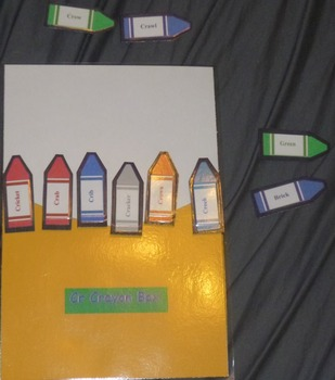 Learning Words Beginning with Cr- Crayon Box