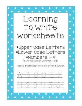 Learning to Write Worksheets