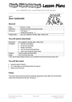 Learning Zoo animals for ESL kids