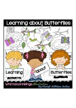 Learning about Butterflies Clipart Collection