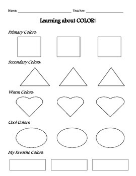Learning about COLOR!