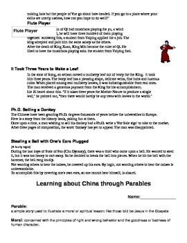 Learning about China through Parables
