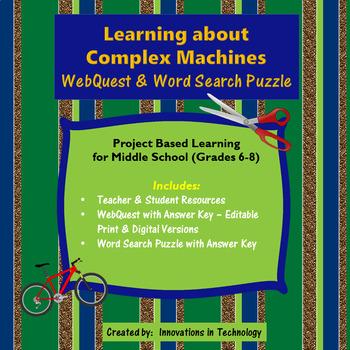 Learning about Complex Machines WebQuest - Internet Scavenger Hunt