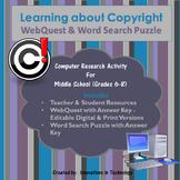 Learning about Copyright WebQuest (Internet Scavenger Hunt)
