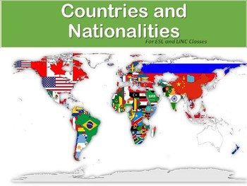 Learning about Countries and Nationalities for ESL, LINC, and PBLA classes