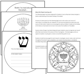 Learning about Hanukkah: Project Based Learning