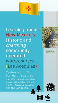 Learning about New Mexico's Waterways... an ancient tradition.