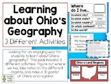 Learning about Ohio's Geography - 3 Different Activities -