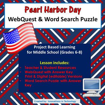 Learning about Pearl Harbor Day - WebQuest / Internet Scavenger Hunt