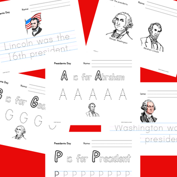 Learning about Presidents for PreK - Kindergarten (Presidents Day)