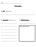 Learning about Story Characters (simple activities to help!)