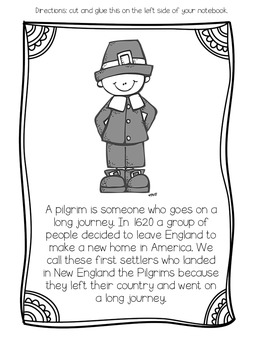 Learning about Thanksgiving- The Pilgrim Edition
