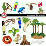 Learning about The Amazon Rainforest Clipart by Poppydreamz