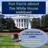 Learning about The White House -  WebQuest / Internet Scavenger Hunt