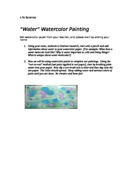 """Science of Water"" Watercolor Painting - Art in Science Project"