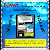 Learning about calculating speed distance learning TEKS 6.8C