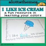 Learning about colors with ice cream mini booklet activity