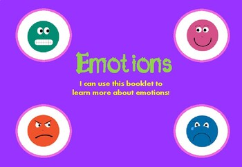 Learning about emotions booklet