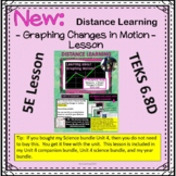 Learning about graphing motion distance learning TEKS 6.8D