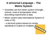 Learning about the Metric System