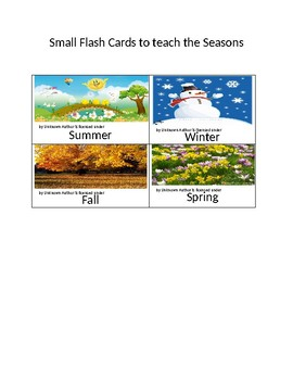 Learning about the Seasons