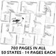 Learning about the U.S.A. - State Birds Notebooking Pages (BIG BUNDLE)