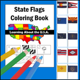 Learning about the U.S.A. - State Flags COLORING BOOK
