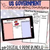 3 Branches of Government & Democracy Print & Digital Unit Bundle