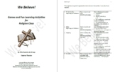 Games and Fun Learning Activities for Religion Class